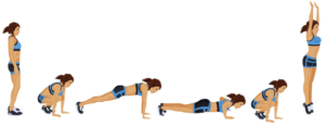 burpees exercise to increase metabolism