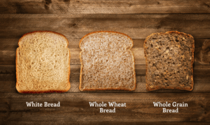 different grain breads have different sugar contents