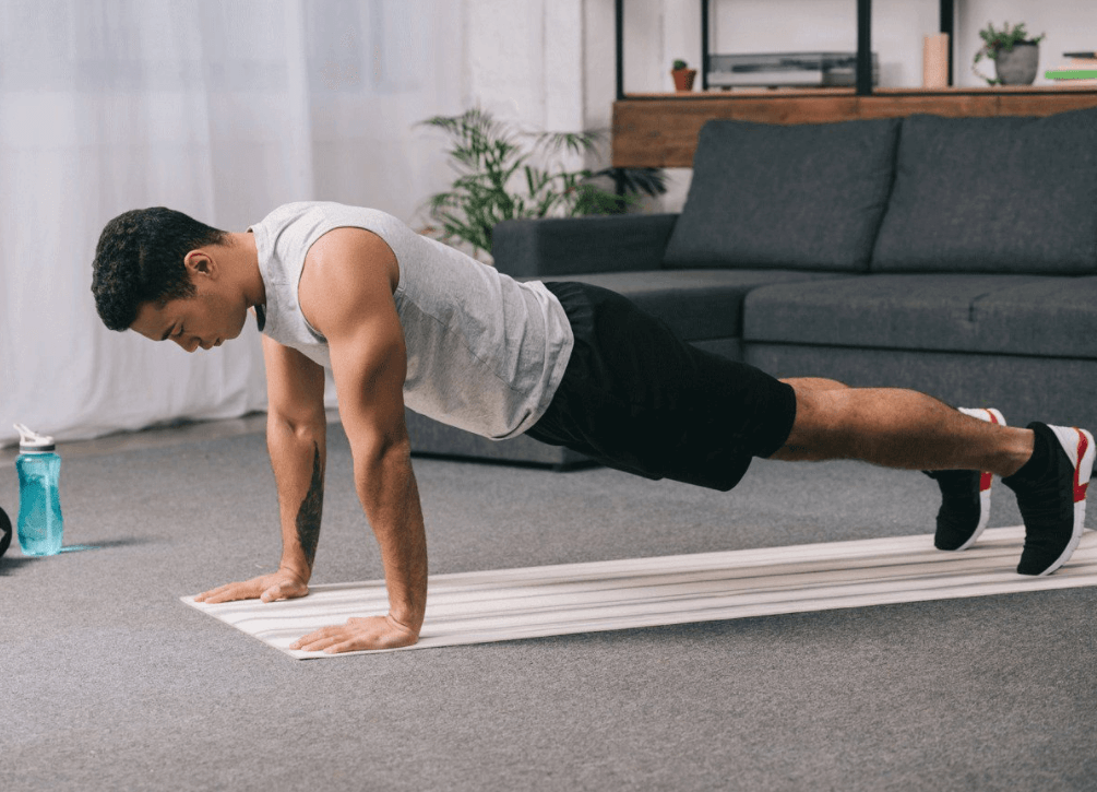 doing push-ups can help you test and measure your fitness level