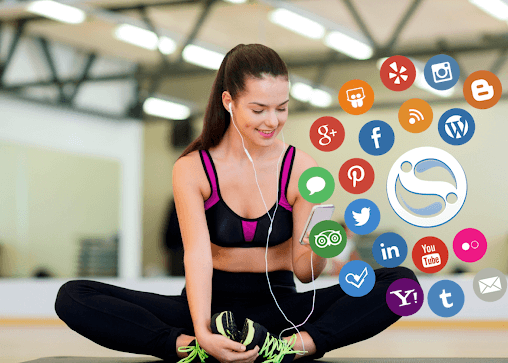 You can use social media you your advantage when it comes to exercising and staying in shape