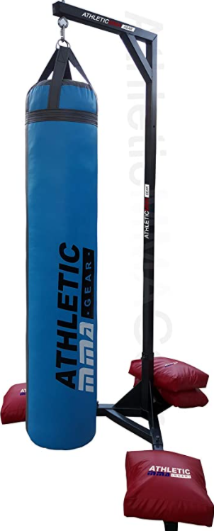 AthleticMMAGear Muay Thai Heavy Bag Stand is one of the best outdoor punching bag stands