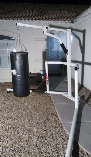 Century Corner Man Hanger is a great outdoor heavy bag stand