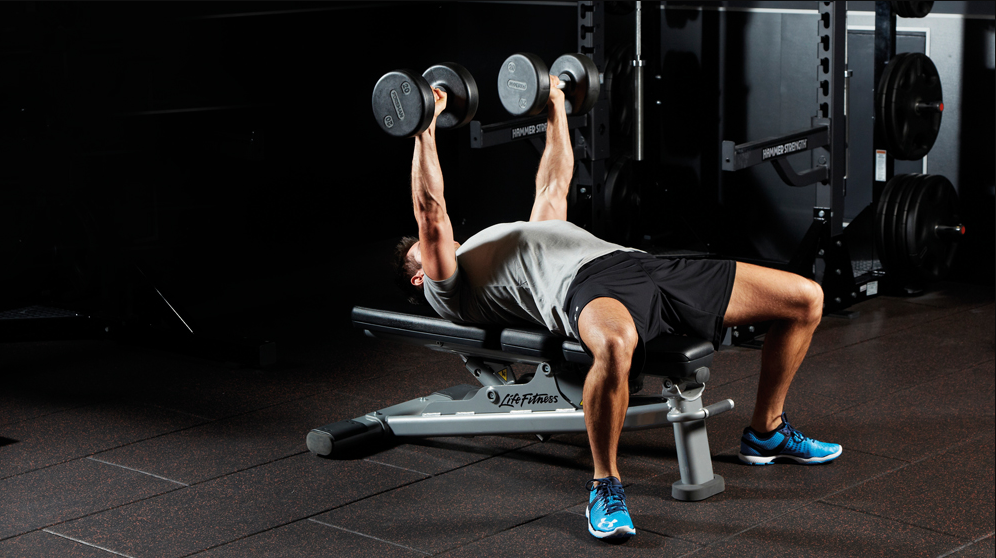 Dumbbell Bench Press Is one of The Alternatives to the Military Press