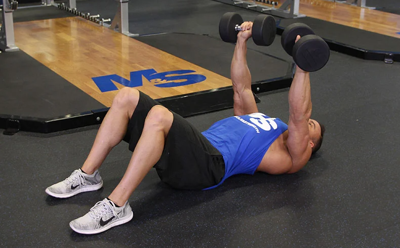 The Dumbbell Floor Press Is one of The Alternatives to the Military Press