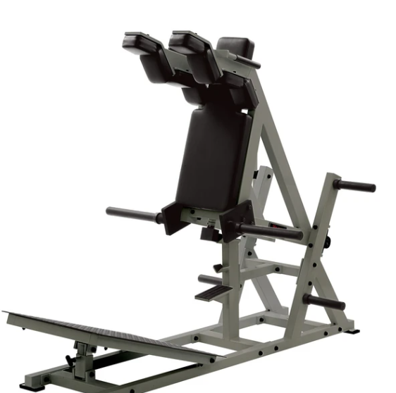 IronFitness York Power Front Squat Machine Is one of the Cheaper & Smaller Alternative Machines To The Hack Squat Machine