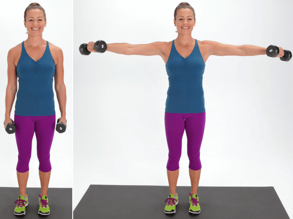 The Lateral Arm Raise Exercise Is One of the Alternatives to the Wall Angels Exercise
