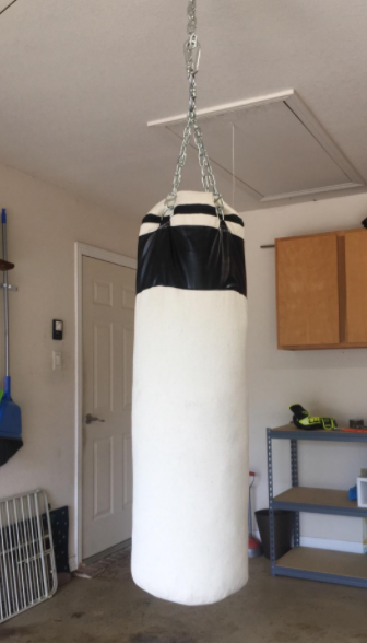 Life Gears Black Canvas Punching Bag with Chains Is the cheapest canvas punching bag you can buy