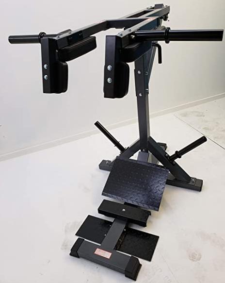 TDS Leverage Calf & Squat Machine Is a great cheap small alternative to hack squat machines