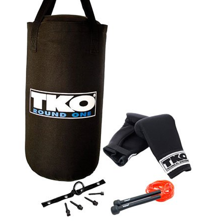 TKO 4-Piece All Purpose Heavy Bag Set for Children Is the best canvas punching bags for children