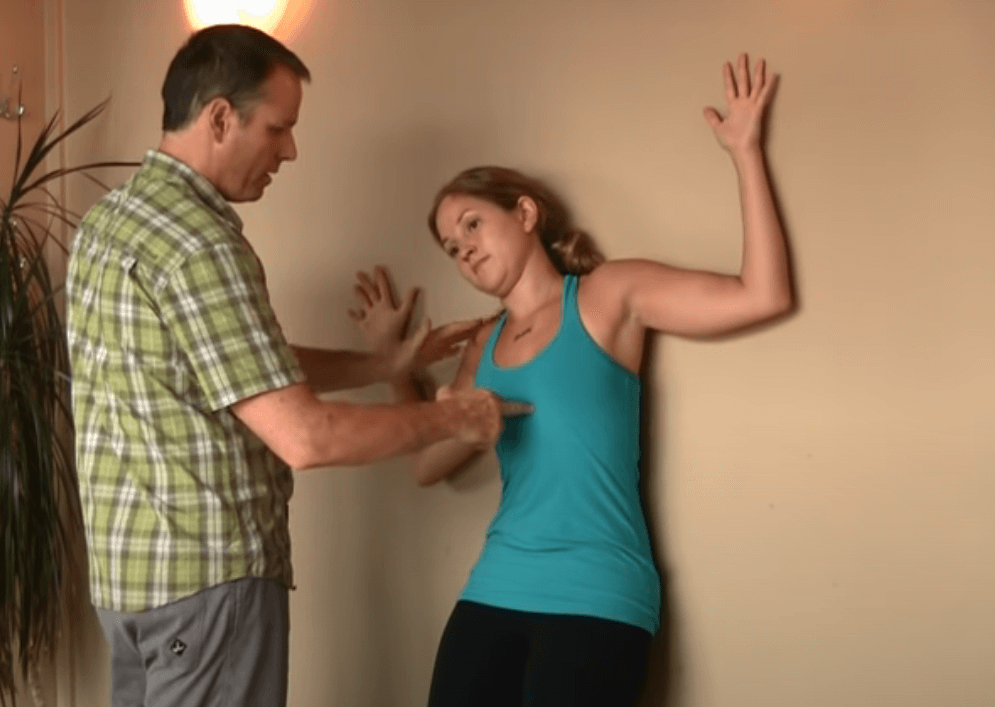 Tilting Wall Angel Exercise