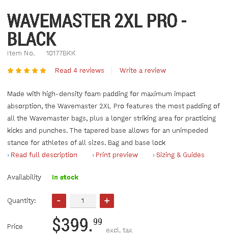 Wavemaster 2XL pro pricing