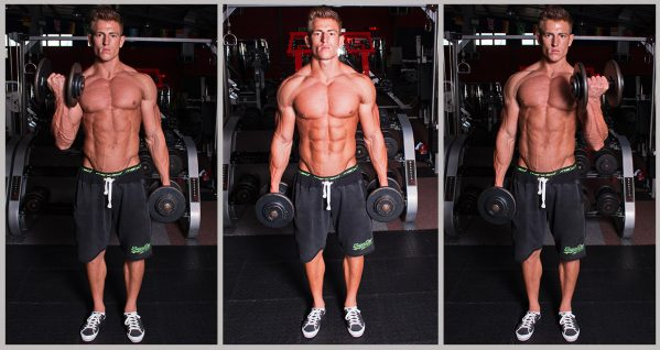 Alternating Dumbbell Curl Is one of the Alternating Dumbbell Press Alternatives