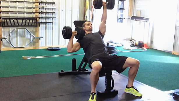 Incline Alternating Dumbbell Press Is a variation of the Alternating Dumbbell Press
