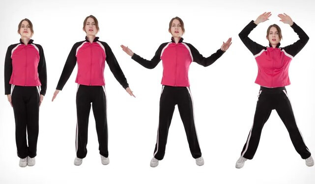 The Use The Proper Form For Jumping Jacks