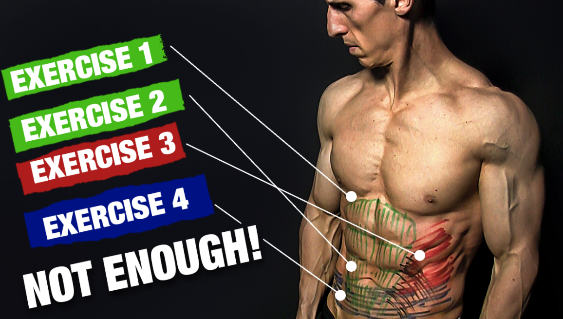each ab exercise should train each part of your ab muscles worked