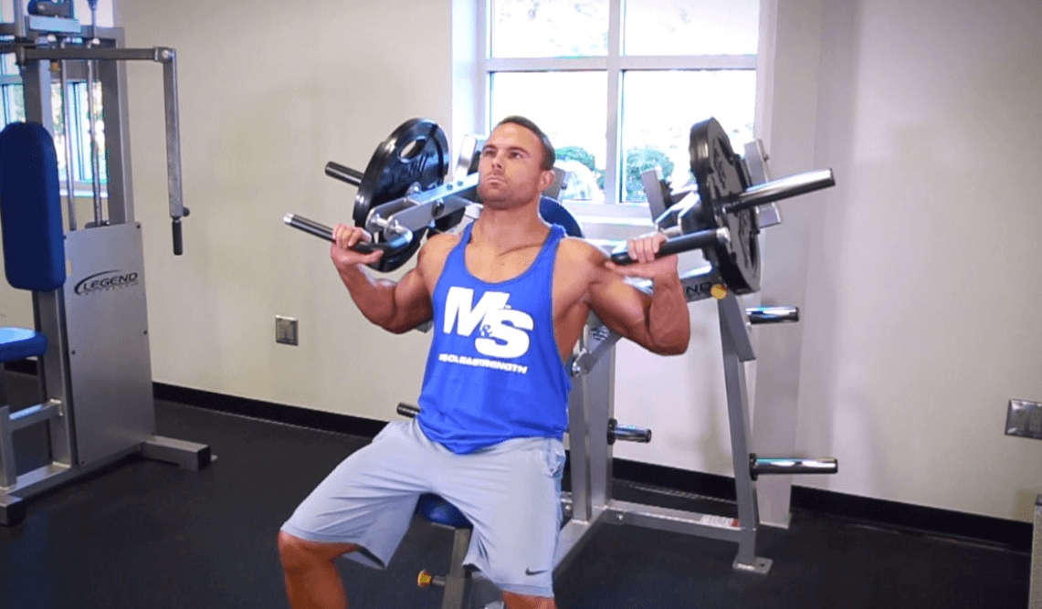 Machine Shoulder Press helps in burning calories