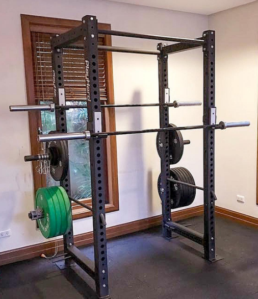 An olympic barbell is great to have for a home gym setup