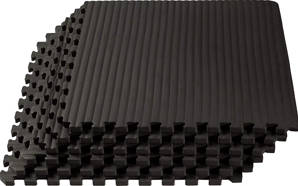 Eva foam floors are not only cheap, but their interlocking design makes them easy to install too