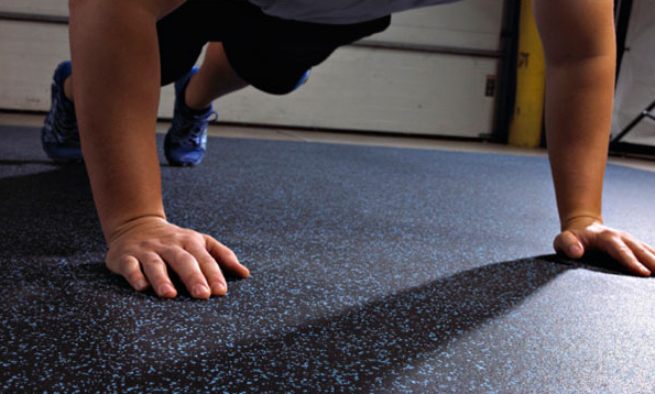 Just because you've improvised doesn't mean you can't get a great floor for your gym