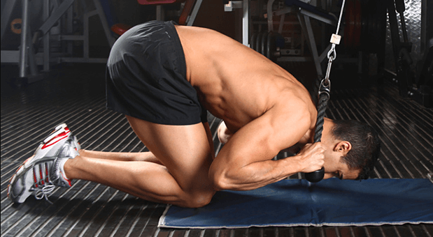 Rope Crunches are another exercise to perform if you want stronger abs