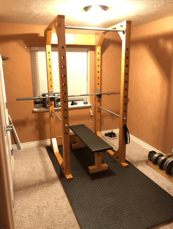 When you have a squat rack Your Home Is Your Gym no need to go to a commercial gym