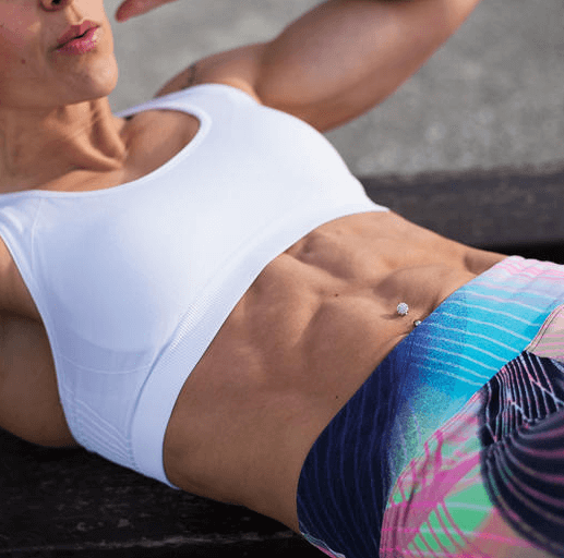 exercising your abdominal area will help make your abs stronger and more prominent
