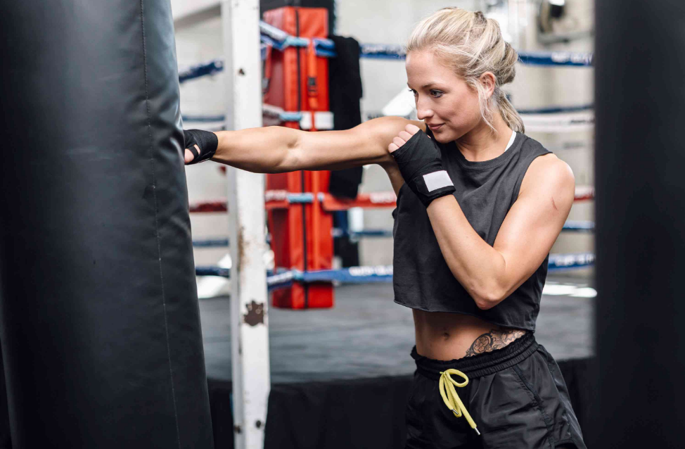 Do the jab starting with your non-dominant hand