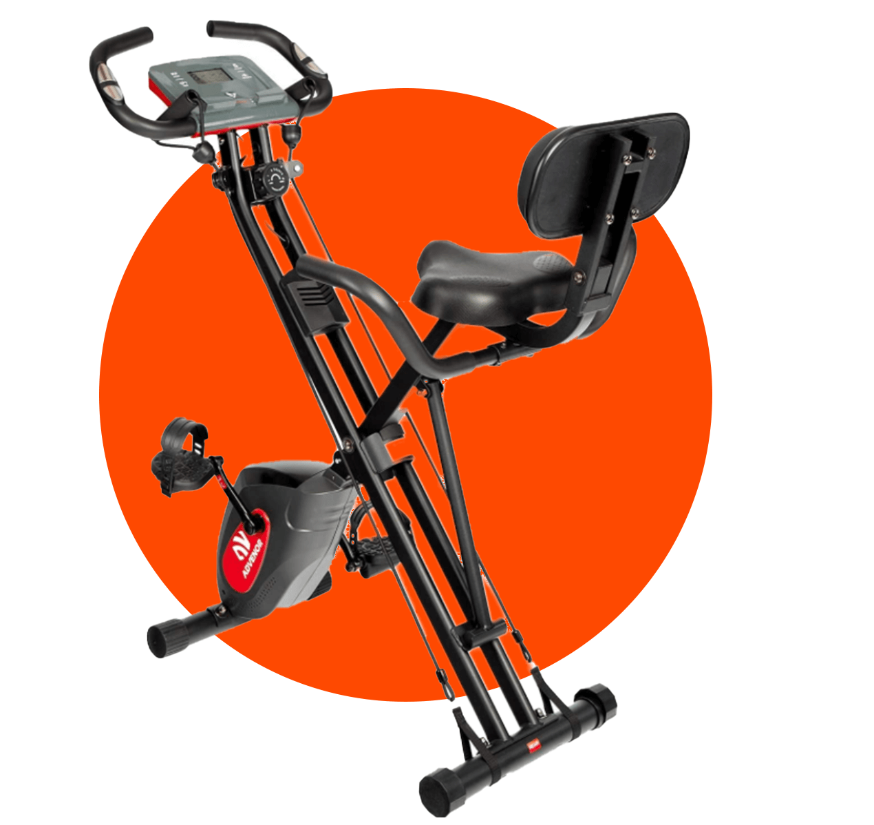 ADVENOR Exercise Bike Magnetic Bike is a great choice for a folded bike with backrest