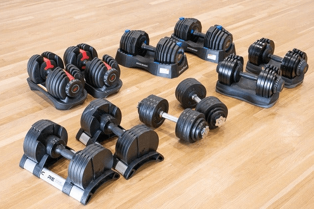 Adjustable dumbbells can be a bit expensive