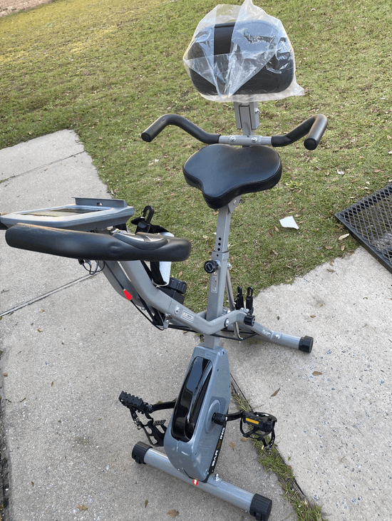 BARWING Foldable Exercise Stationary Bike is another great foldable stationary bike that comes with back rest