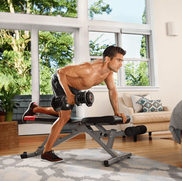 Make the most out of your dumbbells by working several muscles
