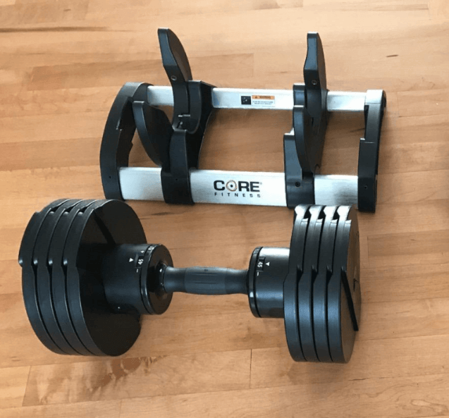 Core Fitness Adjustable Dumbbells are great in terms of weight