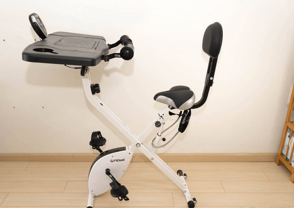 FitDesk Bike Desk 3.0 –Folding Stationary Exercise Bike Is Our Second Choice When It Comes to best foldable exercise bikes with backrest