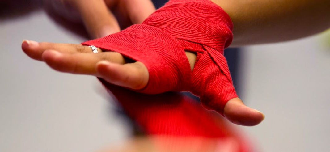 If you're recovering from an injury, use a hand wrap