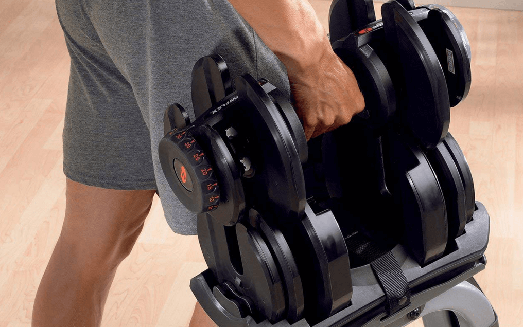 Bowflex dumbbells are some of the easiest to select the desired weight