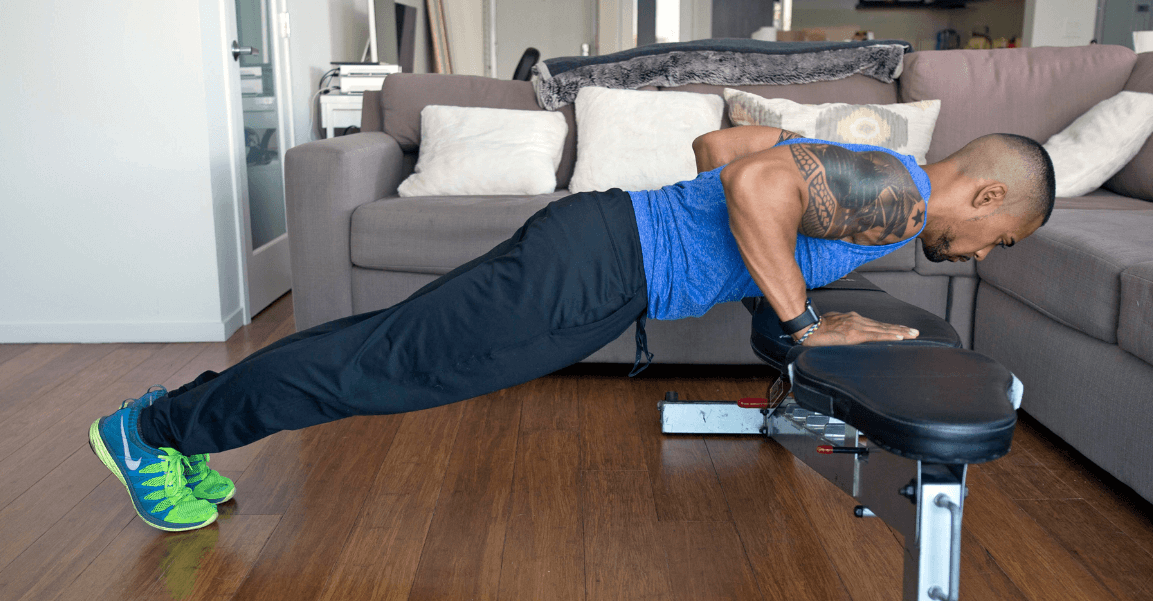 If you're a beginner, then an incline push up will give you a good start