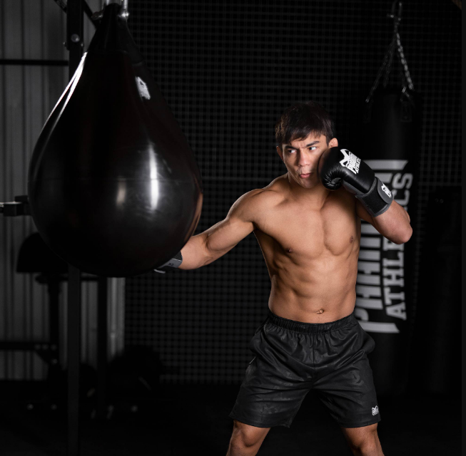 A punching bag is one way to keep fit