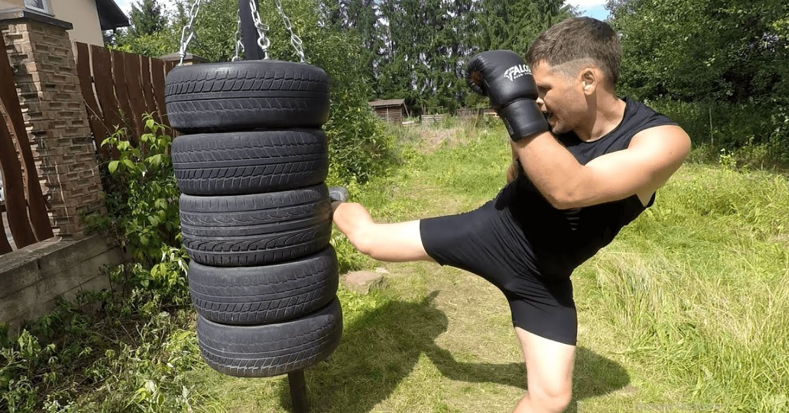 Muay thai tire punching bags are easy to build, and very effective