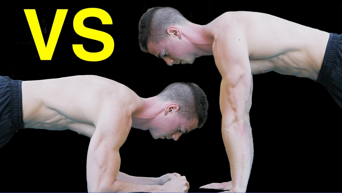 Both planks and push ups have similarities as well as contrasts