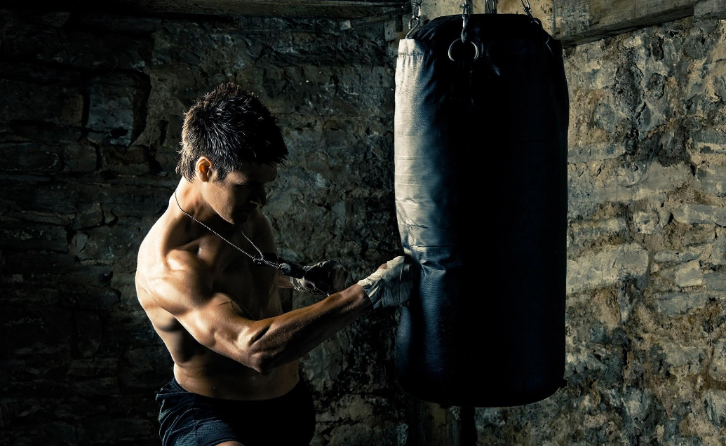A punching bag is also great for muscle building