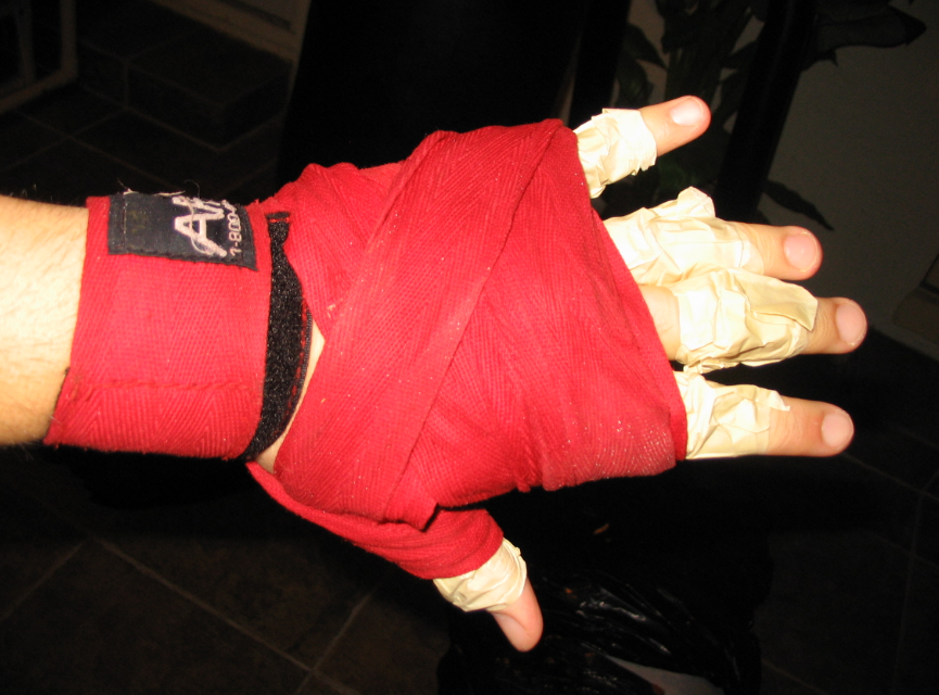 Using hand wraps helps get some mid-level protection