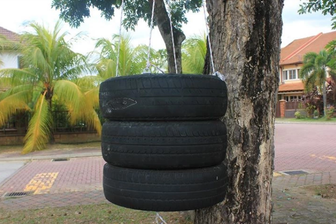A diy tire punching bag is an easy build if you have the tools and idea
