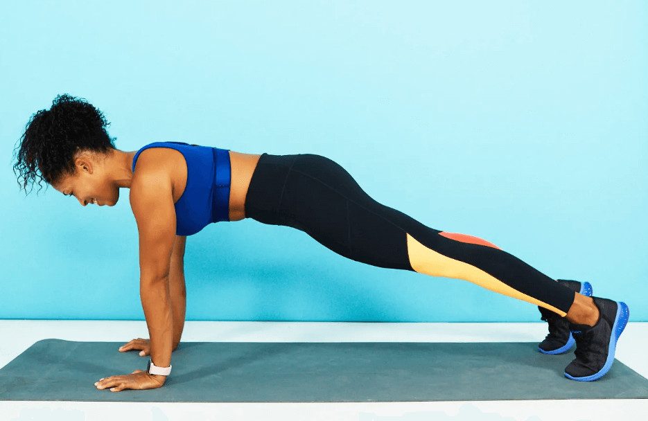If you're not comfortable with planks, then do some push ups instead