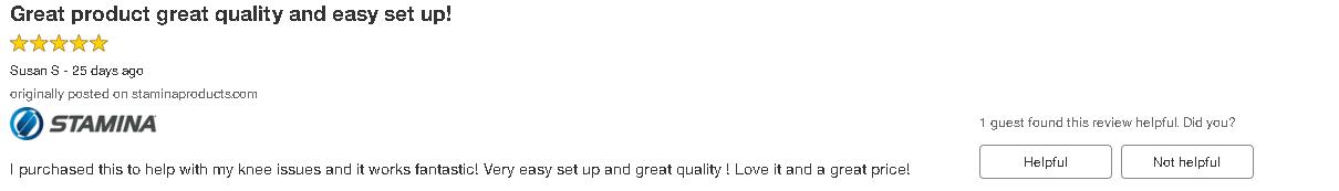 Stamina inMotion Elliptical Customer Review