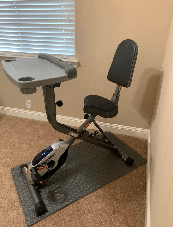 The EXERPEUTIC EXERWORK 2000i Bluetooth Folding Exercise Bike Is our pick for the best foldable bike with backrest