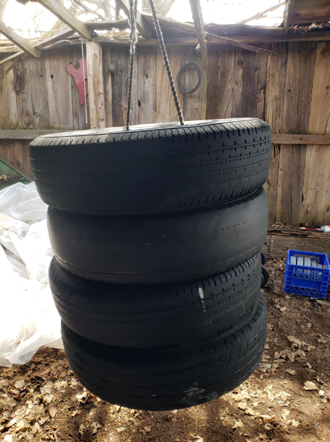 Are diy tire punching bag good