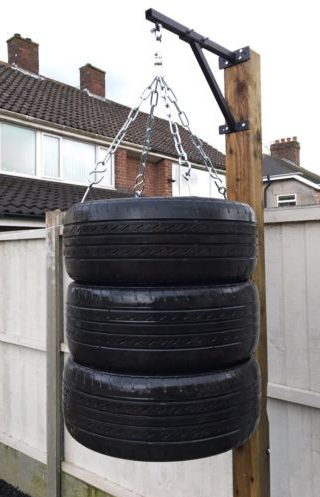 A we-built tire punching bag is all you need