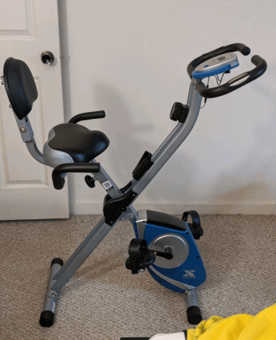 XTERRA Fitness FB350 Folding Exercise Bike is one of the highly ranked folding exercise bikes with backrest