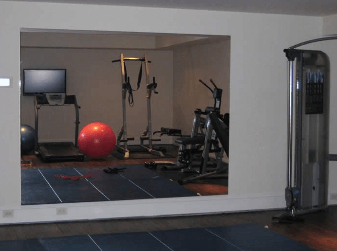 A mirror on one side is great so you can watch your progress as you lift and do other workout