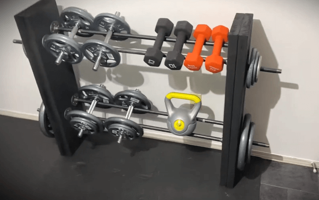Metal DIY Dumbbell Racks are also a viable option when making your own dumbbell racks